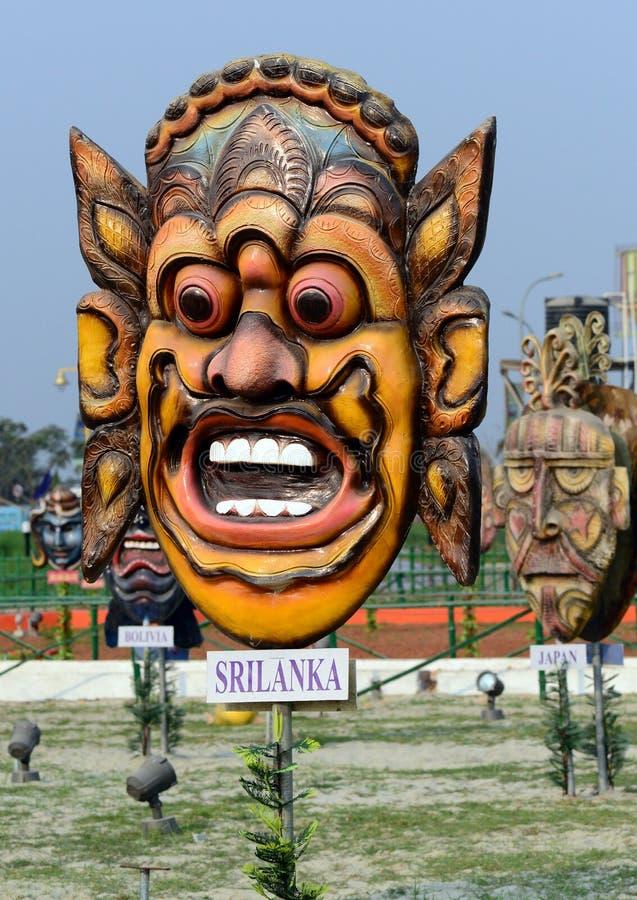 Masker van Sri Lanka royalty-vrije stock afbeelding
