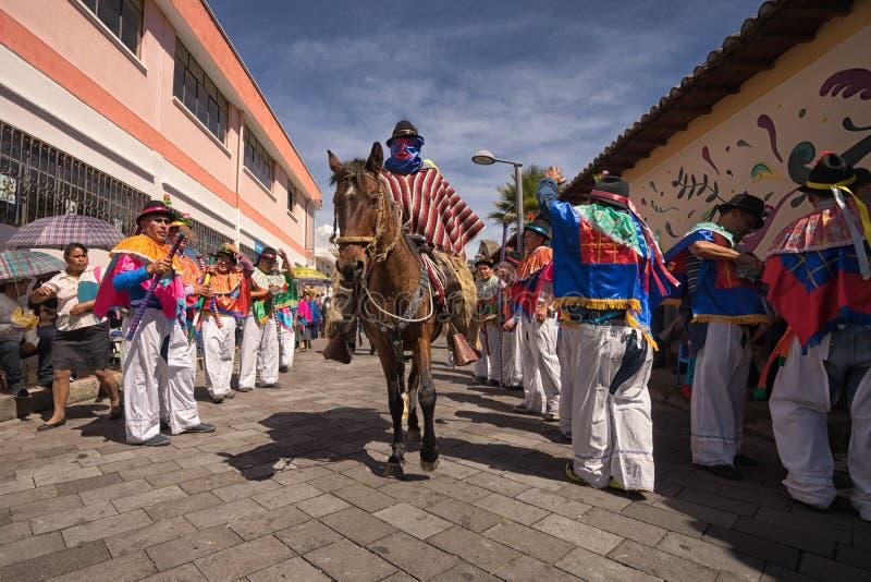 Maskerad hästryggryttare royaltyfria foton