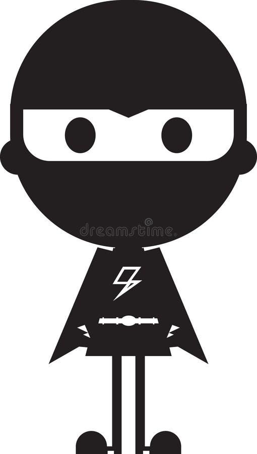 Maskerad heroisk Superherokontur stock illustrationer