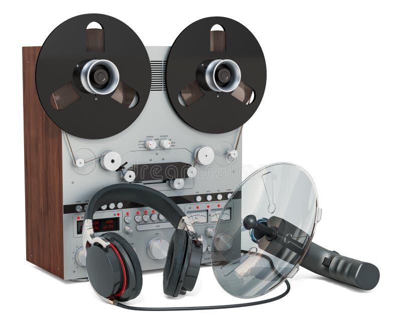 Maskerade lyssnande apparater, bevakning och avlyssnabegrepp framf?rande 3d stock illustrationer