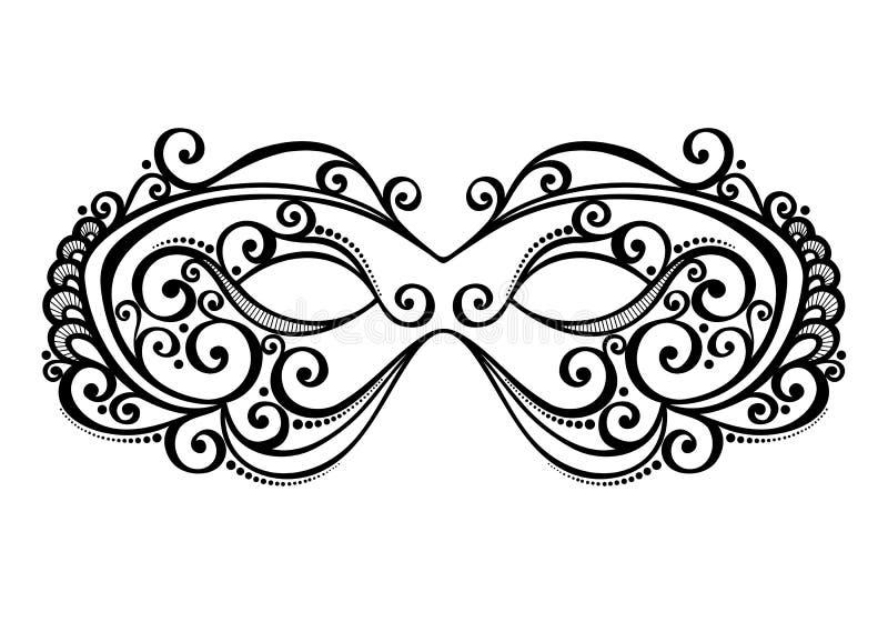 Maskerade-Maske stock abbildung