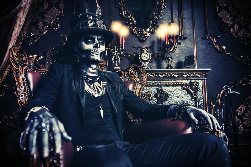 Maskerade op Halloween stock foto