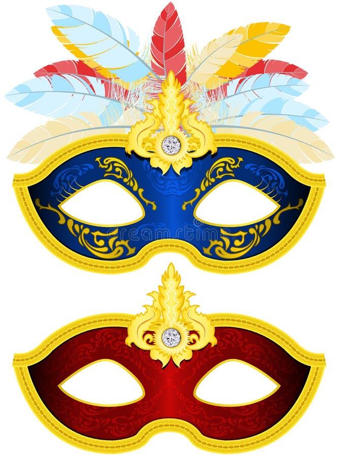 Maskerade-Schablone lizenzfreie abbildung