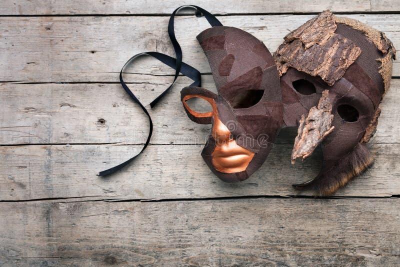 Maskerade und Verkleidung für Theater und Maskenball lizenzfreie stockfotos