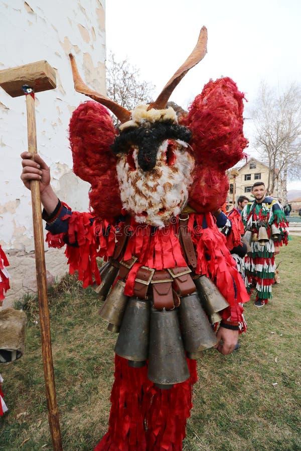 Maskeradefestival Surva in Zemen, Bulgarije stock fotografie