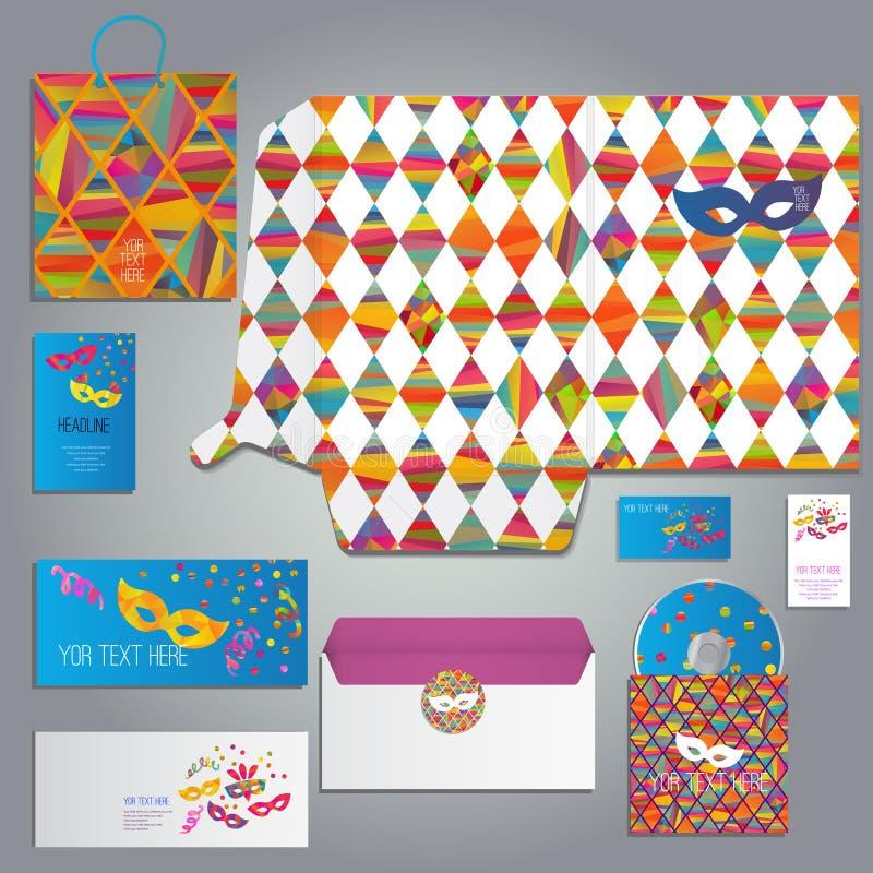 Maskeradekaart of uitnodiging stock illustratie