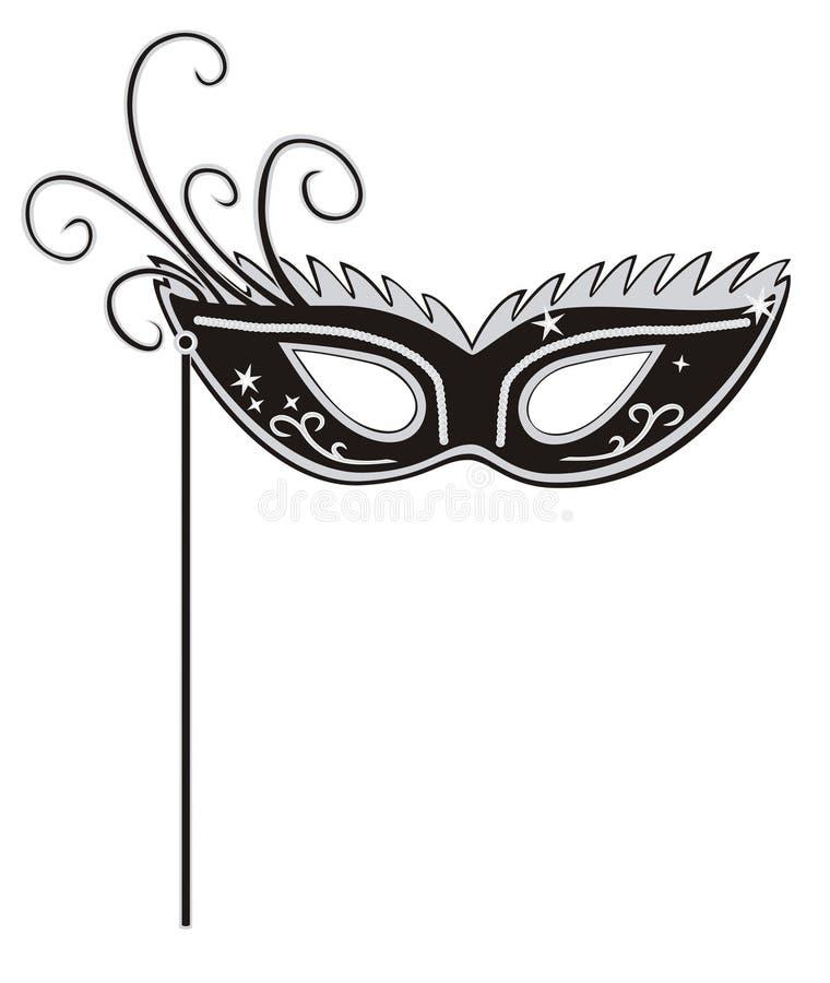 Maskerademaske stock abbildung