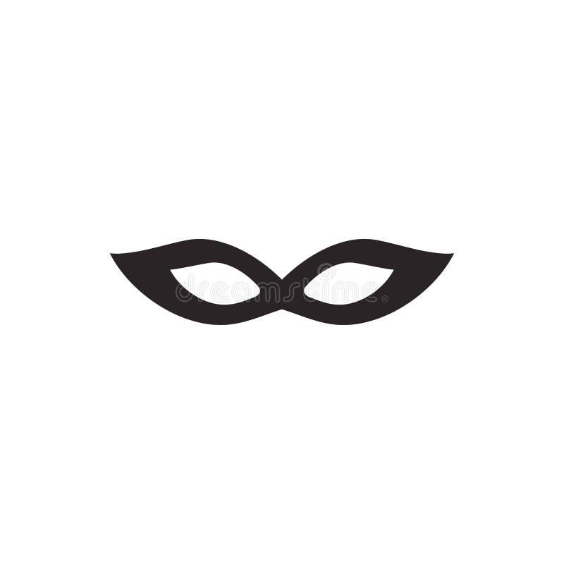 Maskerademaske lokalisiert auf Wei? Karneval, Partei, Feiersymbol stockbild