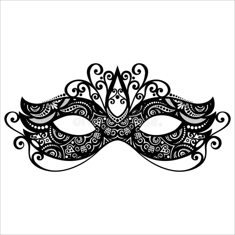 Maskerademasker stock illustratie