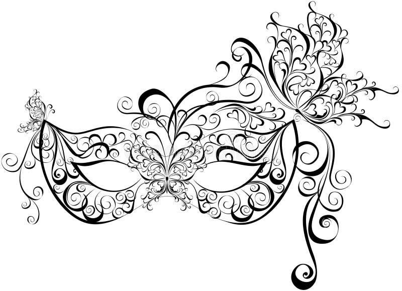 Maskerar för en maskerad royaltyfri illustrationer