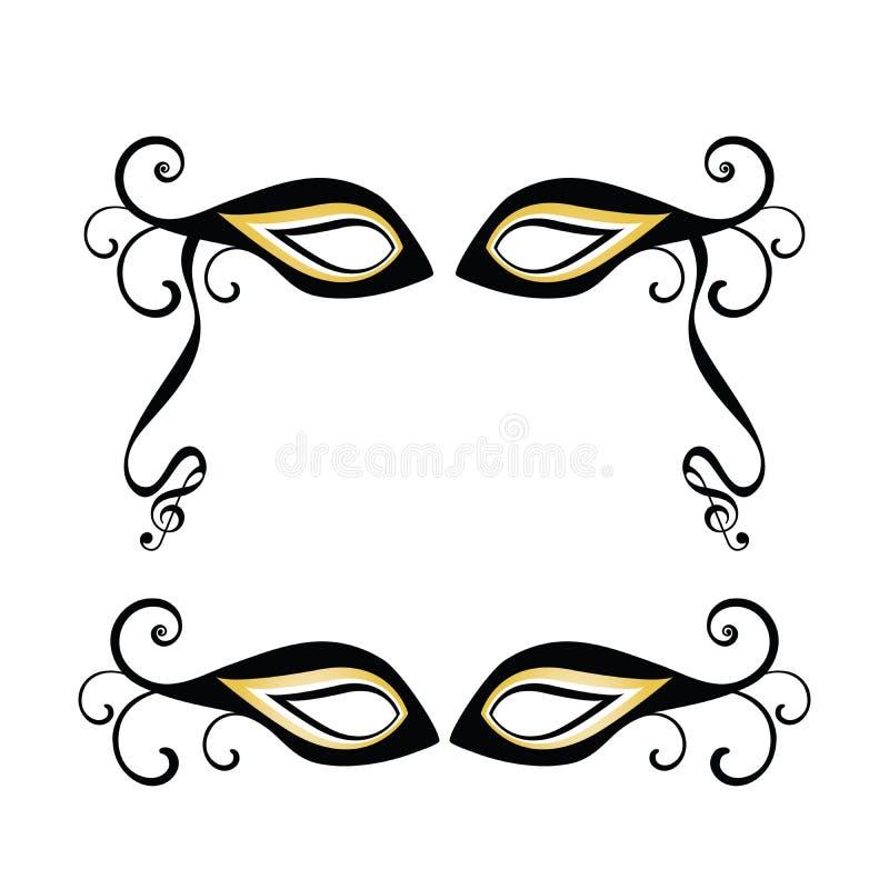 maskerar maskeraden royaltyfri illustrationer