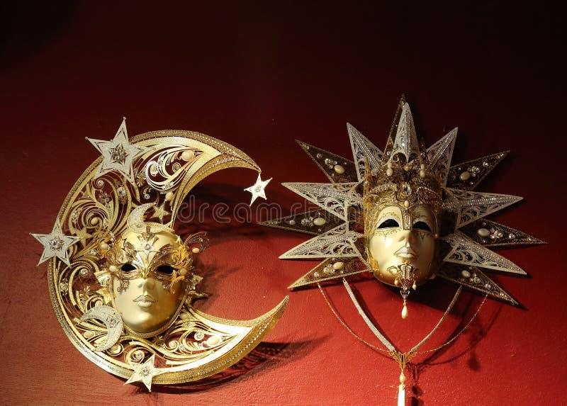maskerar venetian fotografering för bildbyråer