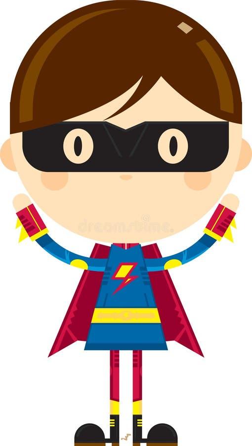 Maskerat heroiskt Superherotecken vektor illustrationer
