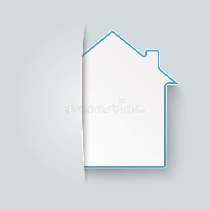 Maskerat hus stock illustrationer