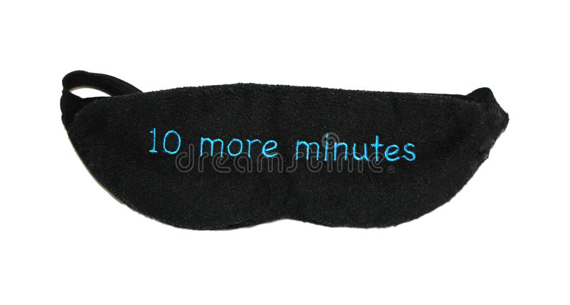 maskering 10 minutes mer sömn royaltyfri bild