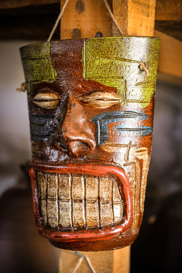 Maskering av det Mapuche folket royaltyfria bilder