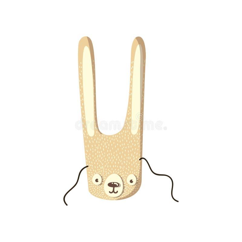 Maskering av en gullig hare white f?r vektor f?r bakgrundsillustrationhaj royaltyfri illustrationer