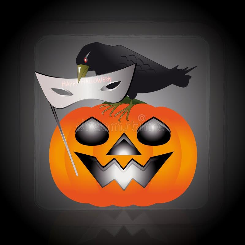 Maskering av halloween royaltyfri illustrationer