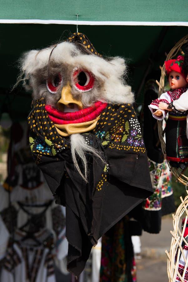 Maskering för jul för vinterferier traditionell, masque från Rumänien royaltyfria foton