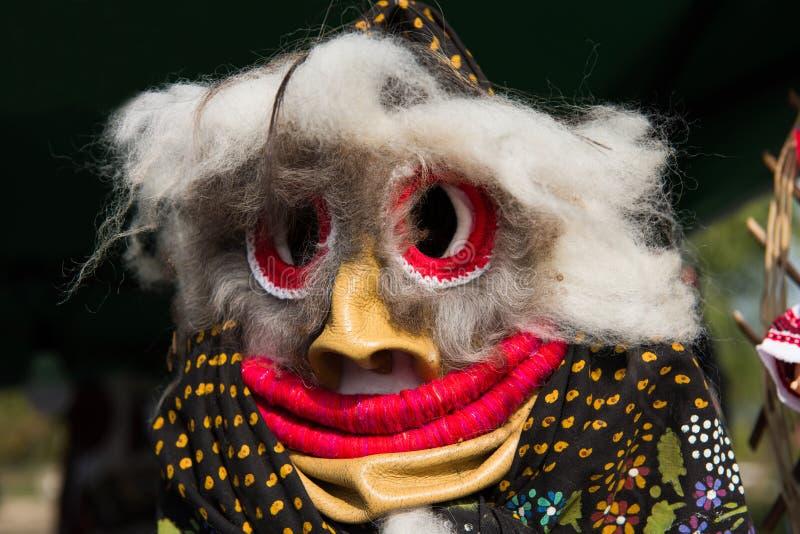 Maskering för jul för vinterferier traditionell, masque från Rumänien royaltyfri bild