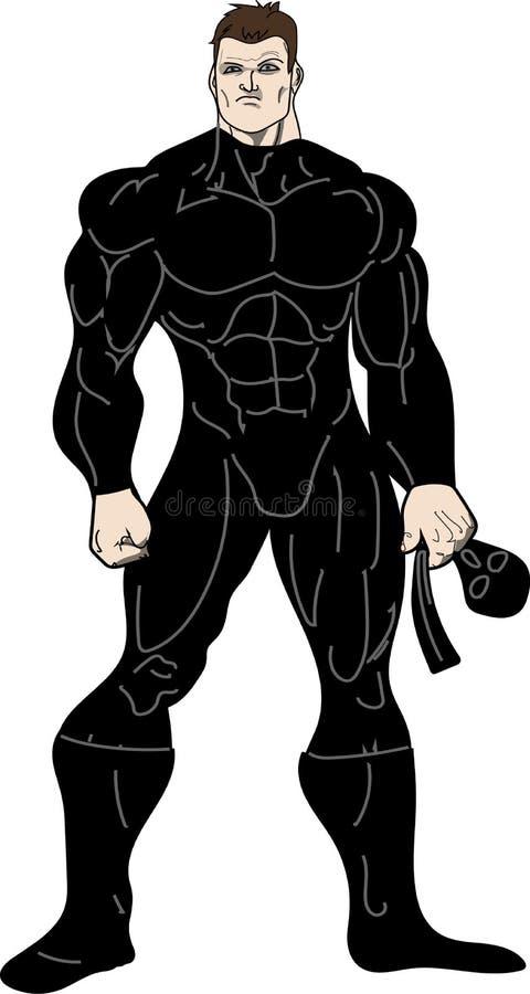 Maskering för Ninja krigareinnehav royaltyfria bilder