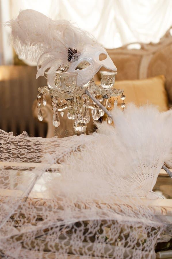 maskeringsbröllop royaltyfria bilder