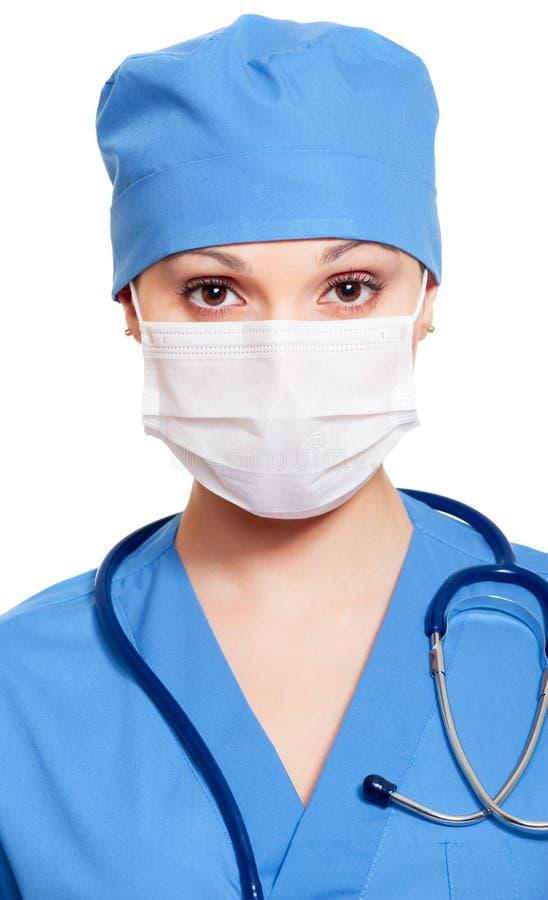 maskeringssjuksköterskalikformig arkivfoto