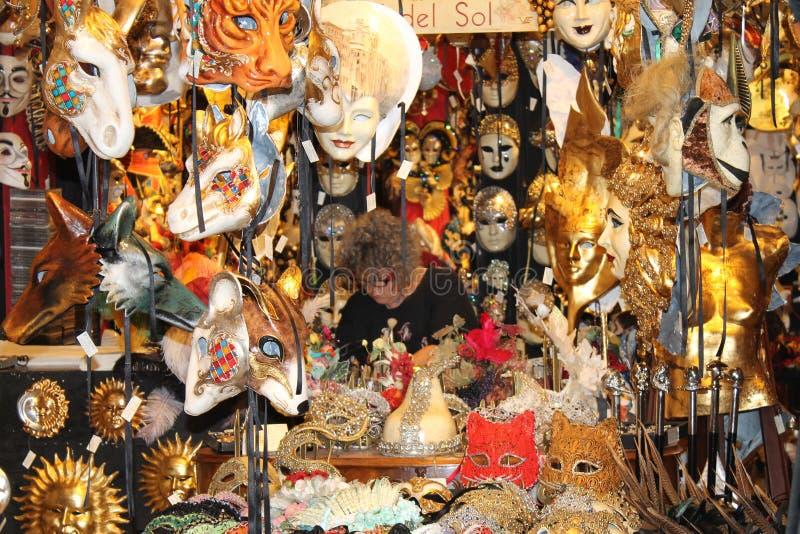 Maskers van Venetië stock afbeeldingen