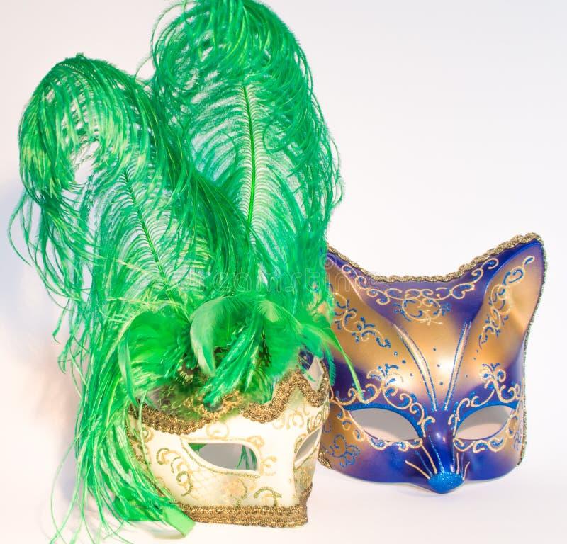 Maskers van Venetië Carnaval royalty-vrije stock afbeelding