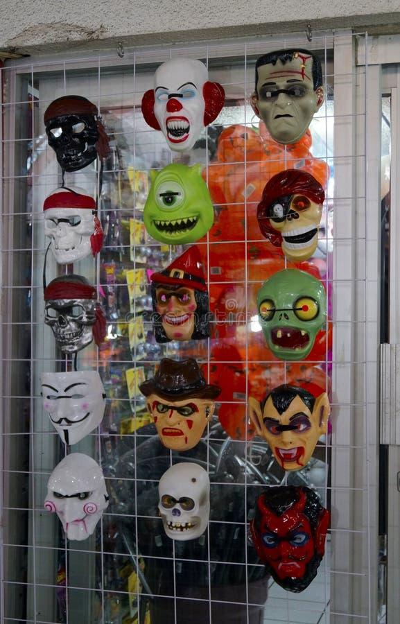 Maskersopslag in Mexico voor Halloween royalty-vrije stock foto's