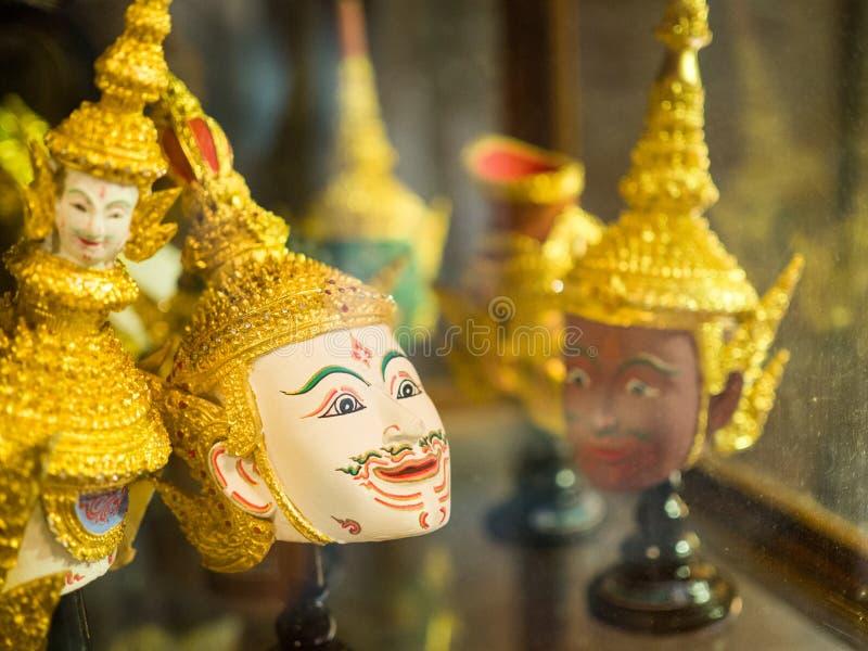 MaskHua traditionnel antique thaïlandais Khon images stock
