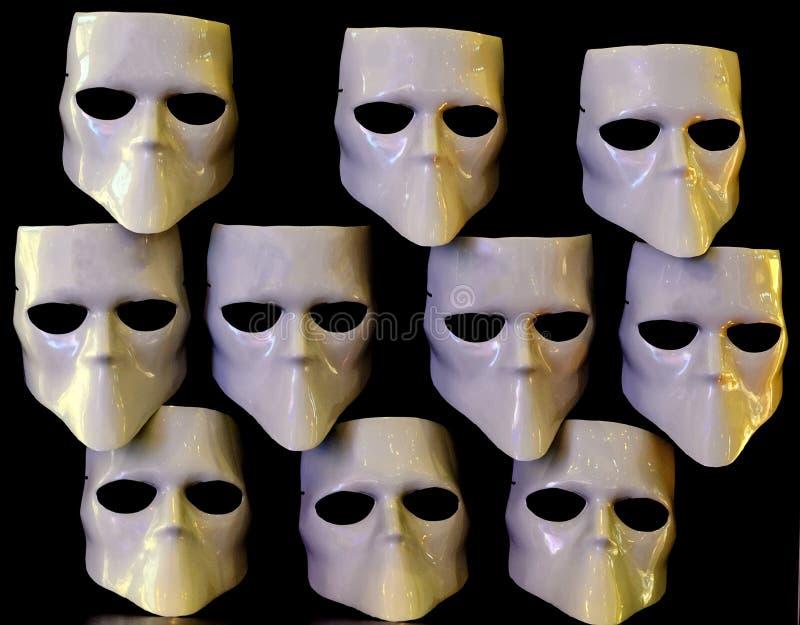 Maski dla beztwarzowego zdjęcie stock