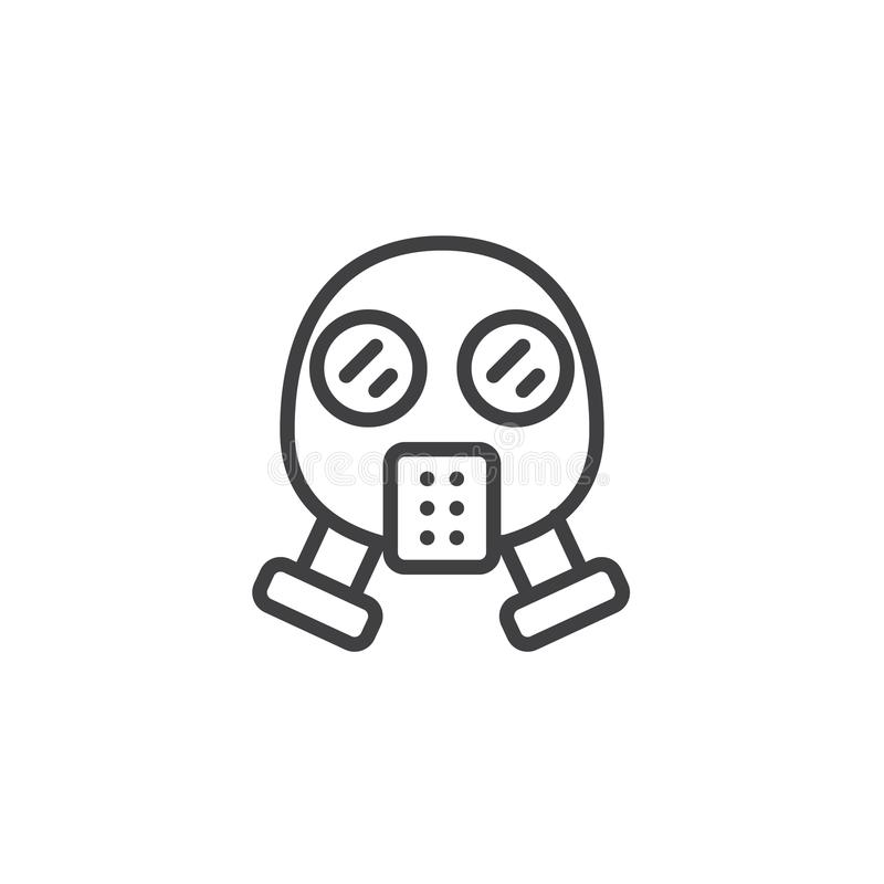 Maski gazowej kreskowa ikona ilustracji
