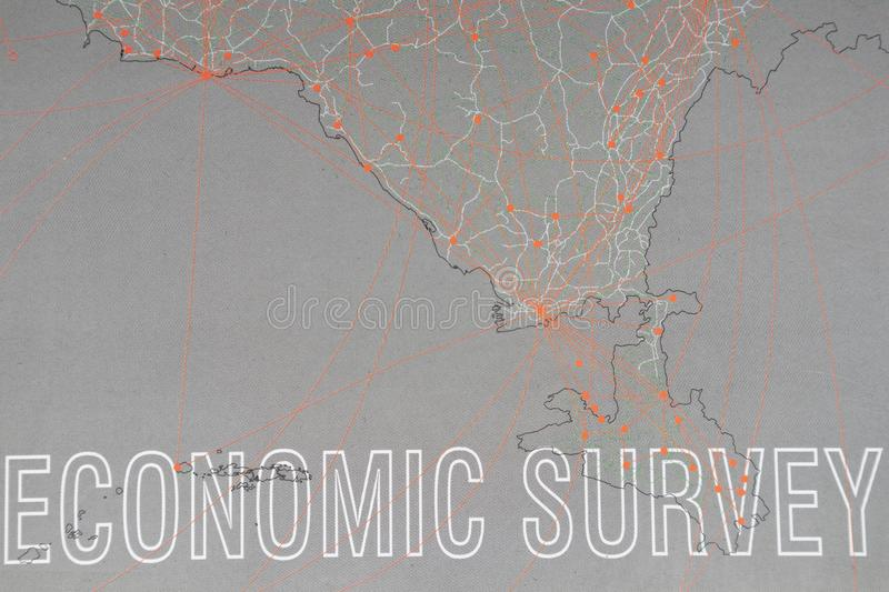 Maski, India July 05,2019 : Economic Survey book on table released by Government of India every year stock image