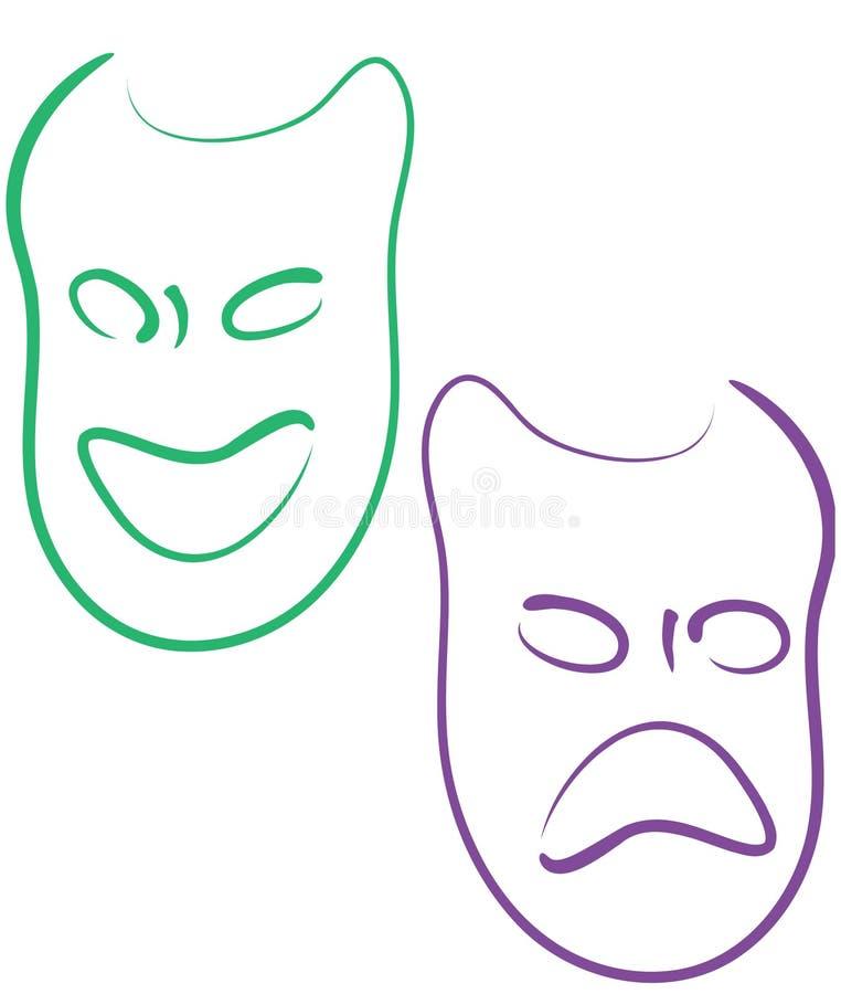 maski mardi gras ilustracji