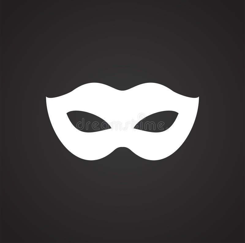Maskiert Ikone auf Hintergrund f?r Grafik und Webdesign Einfaches Vektorzeichen Internet-Konzeptsymbol f?r Websiteknopf oder vektor abbildung
