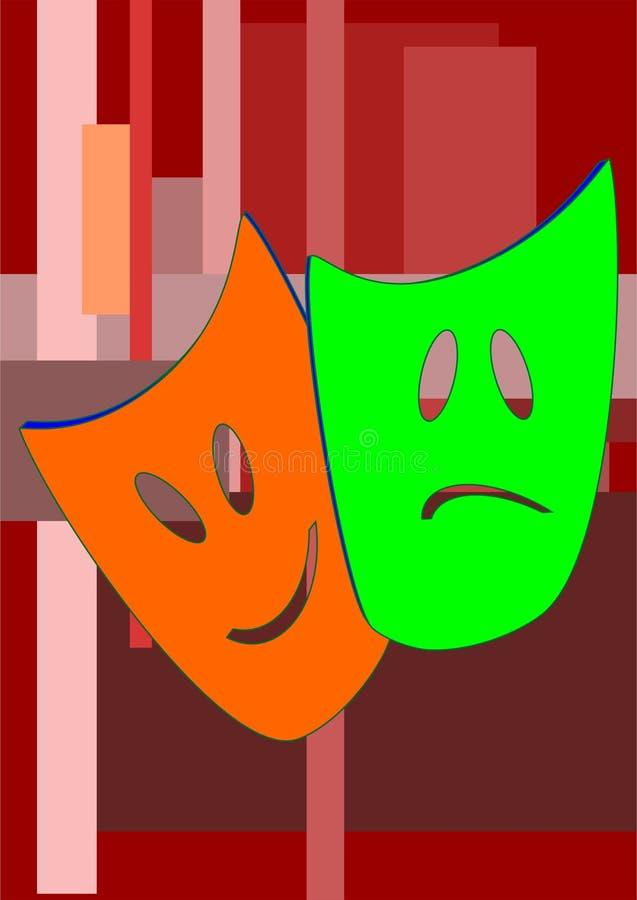 Maskiert Schauspieler lizenzfreie abbildung