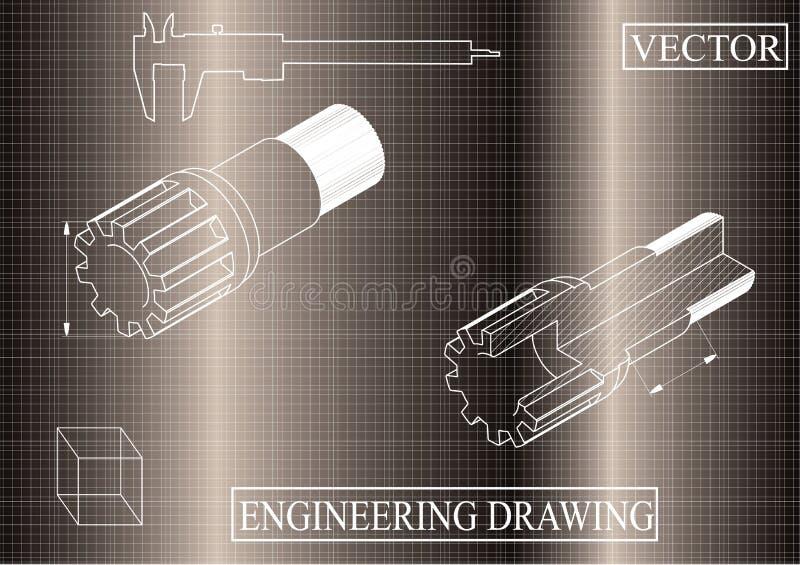 Maskin-byggnad teckningar på en brun bakgrund, axel vektor illustrationer