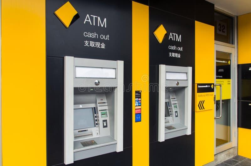 Maskin Commonwealth Bank för automatisk kassör royaltyfri fotografi