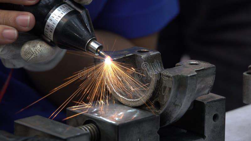 Maskin för övre handtag för slut malande för polerande metall av automotien royaltyfri fotografi