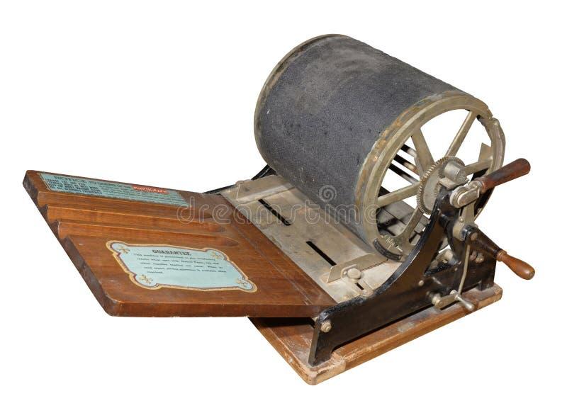 Maskin för mimeographskärmprinting 1909 arkivbilder