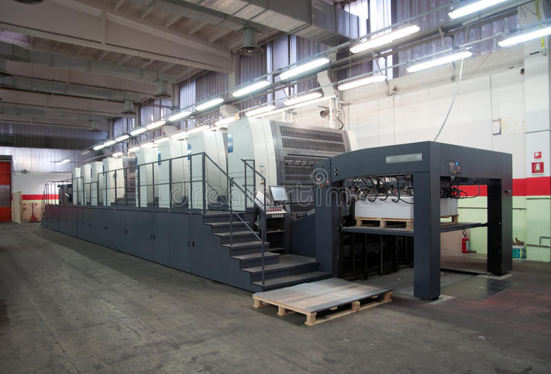 maskin förskjuten pressprinting arkivbild