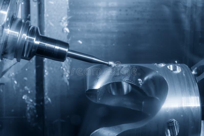 Maskinen för malning för CNC för axel för tabell-spindel lutandetyp 5 arkivbilder
