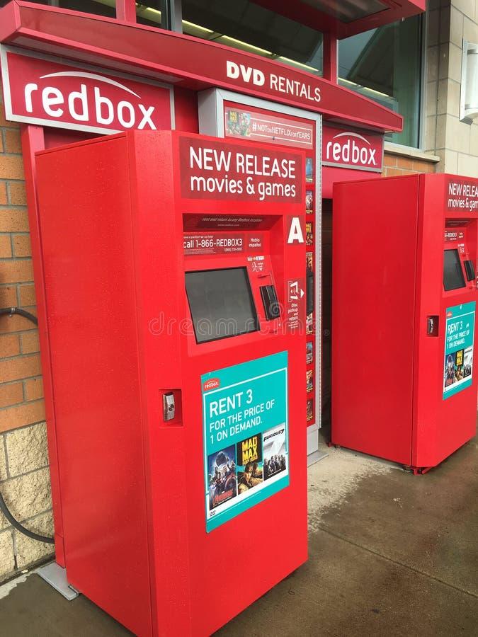 Maskiner för Redbox filmhyra royaltyfria bilder