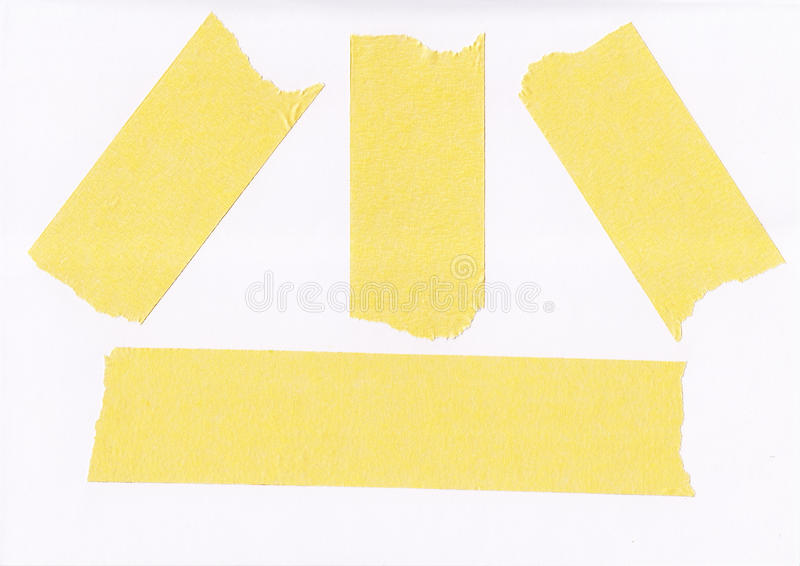 Masking tape. Old grunge masking tape strips on white background stock images