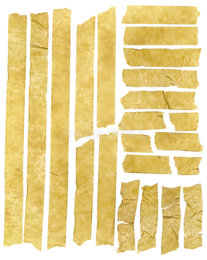 Masking Tape. Old grunge masking tape strips stock images