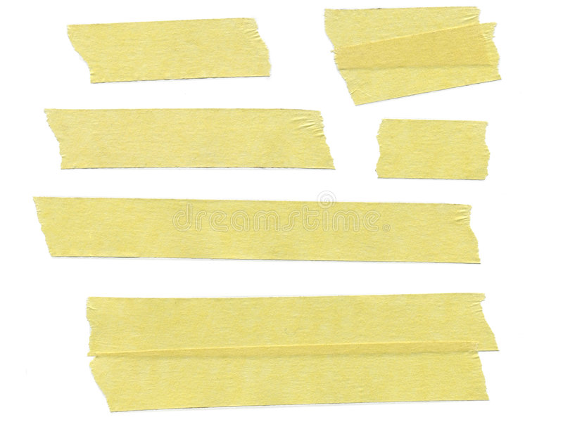 Masking tape. Strips of masking tape on white background stock images