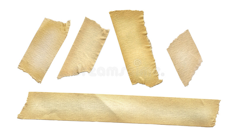 Masking Tape. On white royalty free stock photos