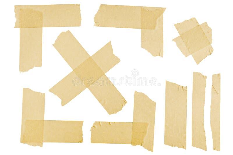 Masking tape corners and stripes stock image