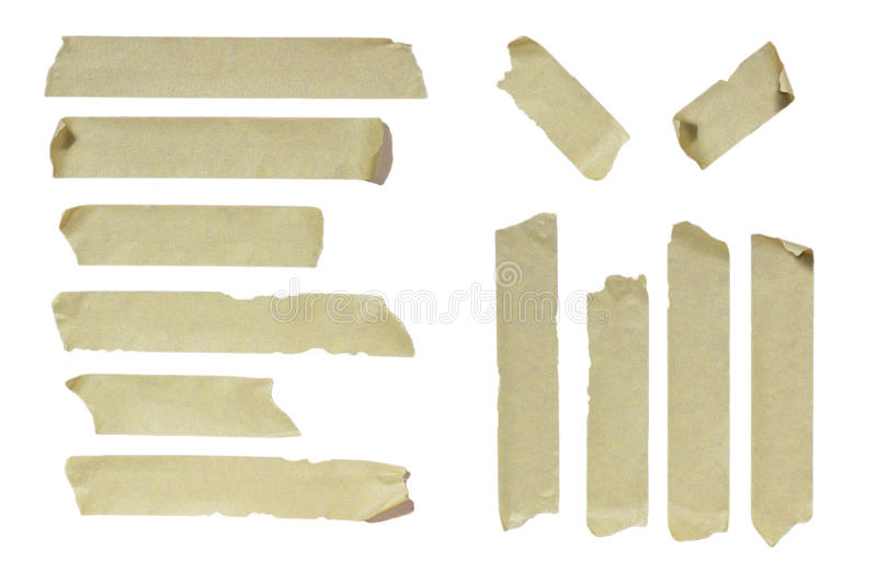 Masking Tape. Image of striped Masking Tape isolated on white stock images